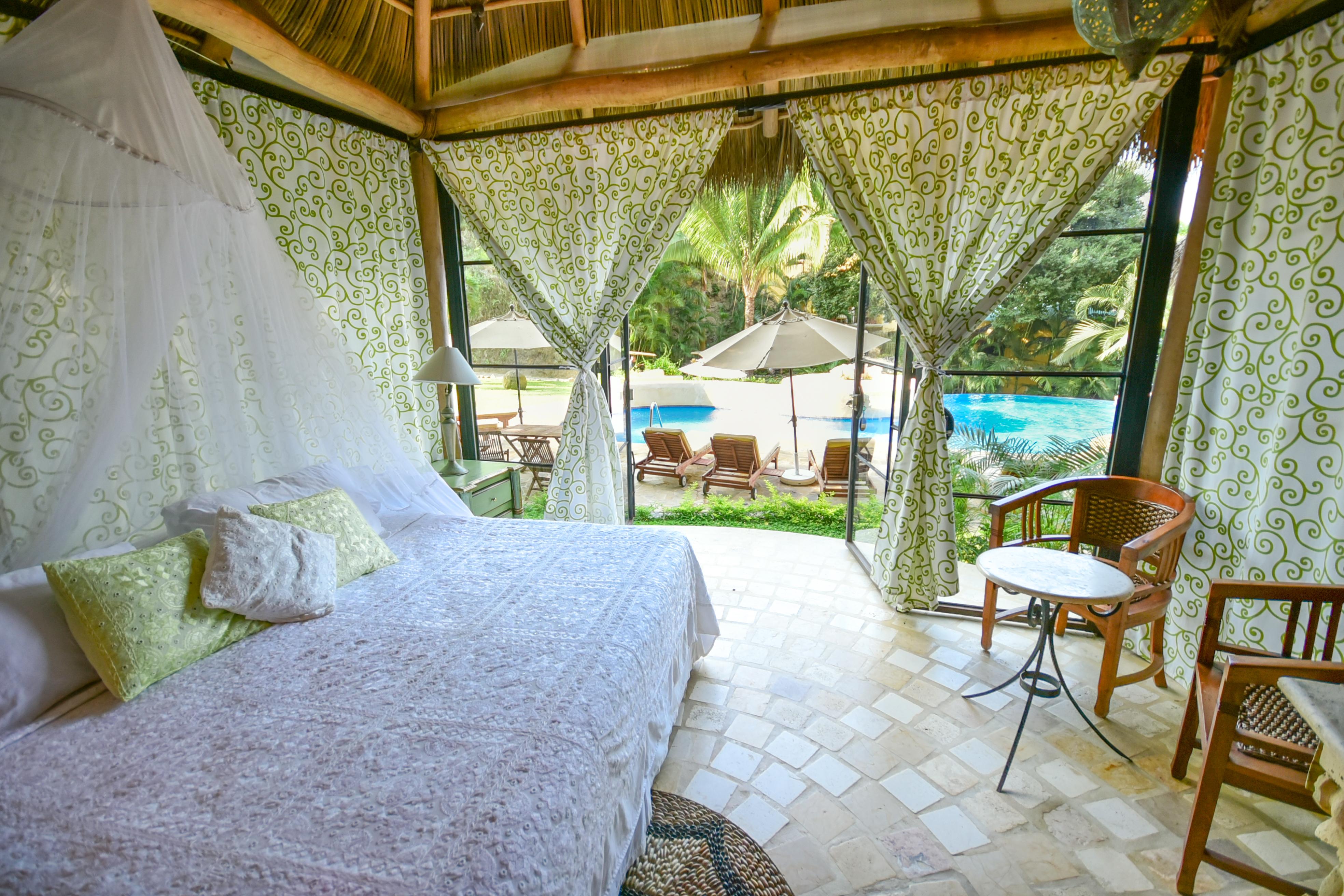 Villa Besito at Amor Boutique Hotel in Sayulita Mexico. Pretty, romantic one bedroom vacation rental.