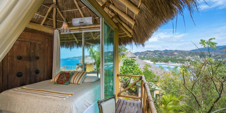 Villa de Amor at Amor Boutique Hotel offers wonderful 270 degree views of Sayulita Mexico.