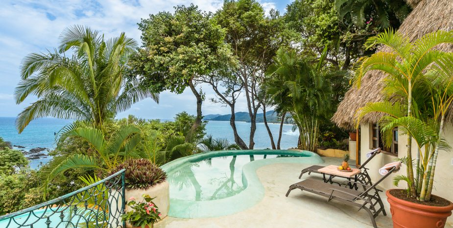 Villa Las Palmas at Amor Boutique Hotel in Sayulita Mexico. 2 bedroom ocean view luxury vacation rental.