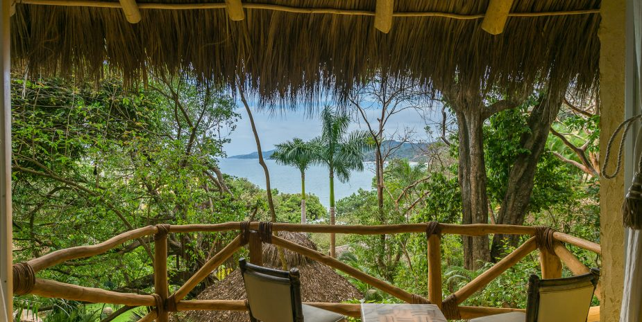 Villa Mañana at Amor Boutique Hotel in Sayulita Mexico. Quiet, romantic, private ocean view villa with hammock, balcony and spacious bedroom.